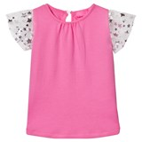 Holly Hastie Pink and Silver Star Print Frill Tee