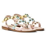 Step2wo Pastel Patent Studded Sophia Sandals