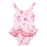 Sunuva Infants Pink Mini Cupcake Frill Swimsuit