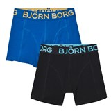 Bjorn Borg 2 Pack of Black and Blue Trunks