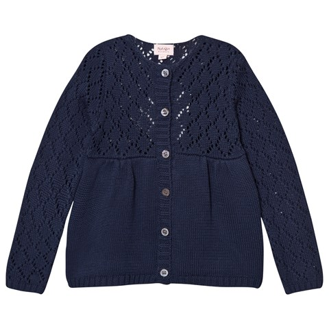 Mini Rhi Knit Cardigan Blue
