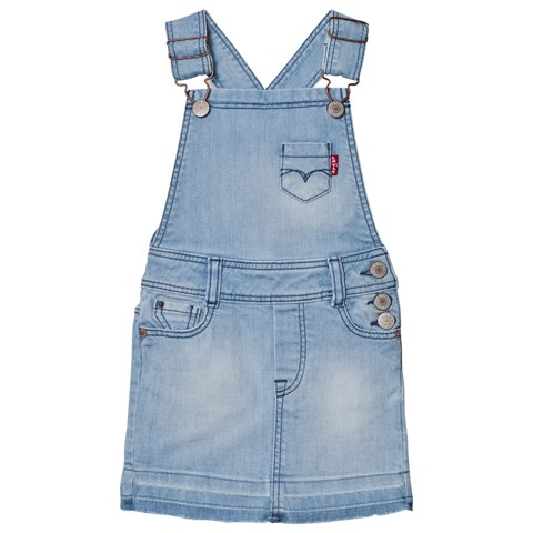 Light Wash Dungaree Dress