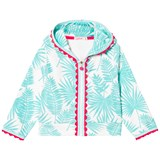 Billieblush Turquoise Palm Print Towelling Hoody