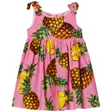 Dolce & Gabbana Pink Pineapple Print Cotton Sleeveless Dress