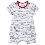 Catimini Red and White Paris Scribble Shortall