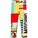 Moschino Branded and Heart Print Patchwork Leggings