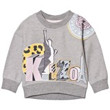 Kenzo Kids Grey Statue of Liberty and Tiger Print Sweatshirt