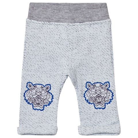 Kenzo Kids Grey Marl Sweat Pants with Tiger Detail