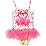 Kate Mack - Biscotti Pink Flamingo Print Tutu Swimsuit