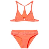 O'Neill Fluoroescent Peach Triangle Bead Bikini