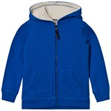 Lands' End Blue Sherpa Lined Hoodie