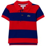 Lacoste Red and Blue Pique Polo