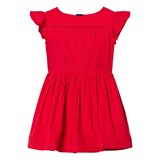 Tommy Hilfiger Red Frill Sleeve Dress