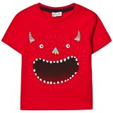 Paul Smith Junior Red Glow in the Dark Monster Print Tee