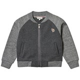 Paul Smith Junior Grey Raglan Branded Sweat Bomber