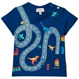 Paul Smith Junior Bright Blue Map Print Pocket Tee
