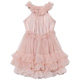 DOLLY by Le Petit Tom Ballet Pink Ruffled Chiffon Dance Dress