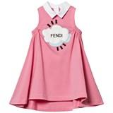Fendi Pink Branded Gathered Dress