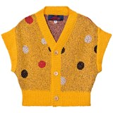 The Animals Observatory Soft Beige Horsefly Kids Cardigan