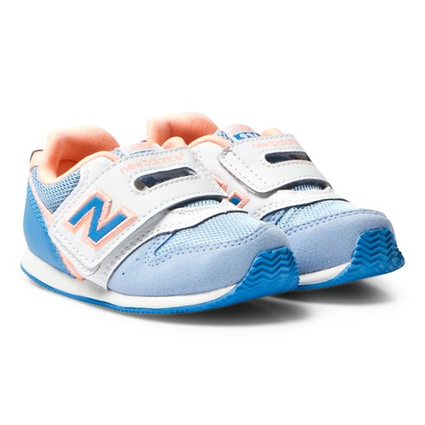 New Balance Light Blue and Peach Velcro Trainers