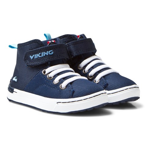 NavyWhite Frogner Kids MID Trainers