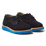 Young Soles Navy Suede Alfie Derby Shoes