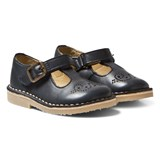 Young Soles Navy Leather Penny T Bar Shoes