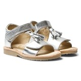 Young Soles Silver Flo Velcro Sandals