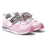 Moschino Pink Branded Sprint Trainers
