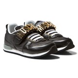 Moschino Black Branded Sprint Trainers