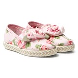 Monnalisa Pink Rose Print and Applique Slip On