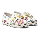 Monnalisa Flower Print and Applique Slip On