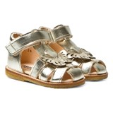Angulus Gold Butterfly Closed Toe Sandals