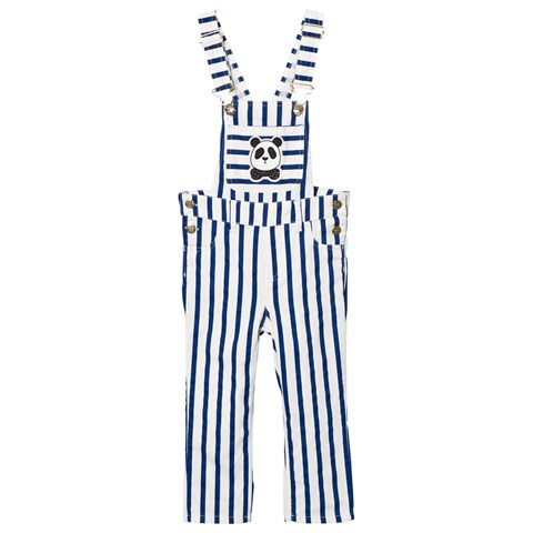 Mini Rodini Blue Stripe Dungarees