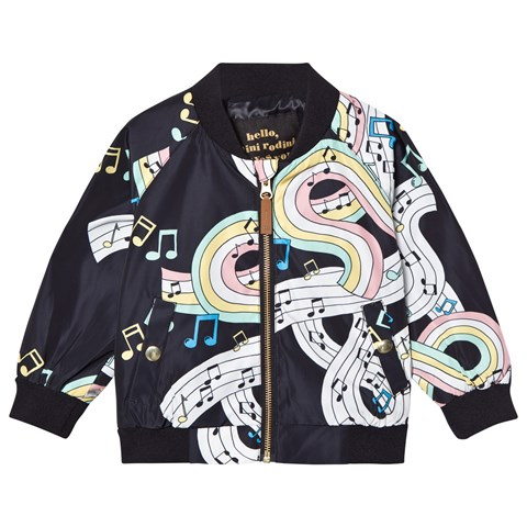 Mini Rodini Black Melody Baseball Jacket