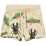 Mini Rodini Beige Insects Sweatshorts
