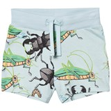 Mini Rodini Light Blue Insects Sweatshorts