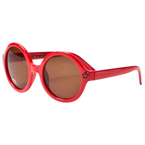 Mini Rodini Red Solid Round Sunglasses