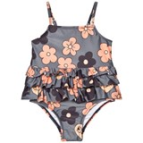 Mini Rodini Grey Flower Frill Swimsuit
