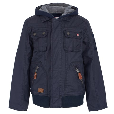 Pepe Jeans Navy Coated Jacket & Jumper