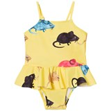 Mini Rodini Yellow Mr Mouse Skirt Swimsuit