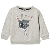 Karl Lagerfeld Kids Grey Marl Bad Cat Sweatshirt