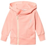 Gugguu Soft Pink and White College Hoodie