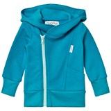 Gugguu Turquoise Blue and Water Blue College Hoodie