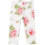 Monnalisa Cream Rose Print Leggings