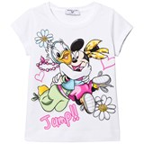Monnalisa White Daisy and Minnie Print Tee