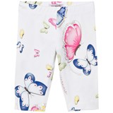 Monnalisa White Butterfly Print Leggings