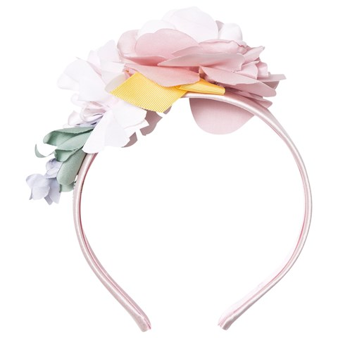 Monnalisa Pink Flower Applique Headband