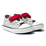Ralph Lauren Grey Colourblock Kody Velcro and Lace Trainers