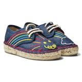 Stella McCartney Kids Rae Denim Espadrilles with Embroidery